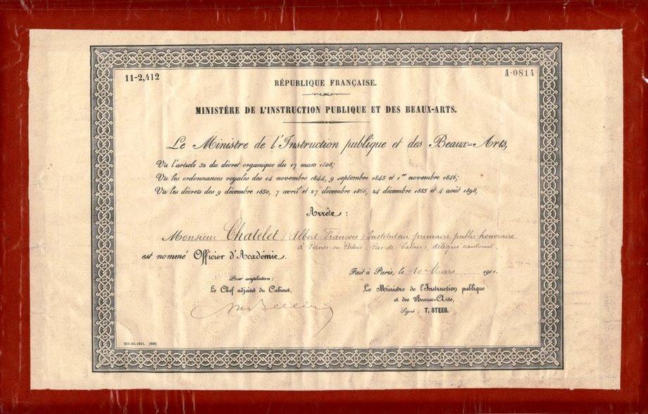 24 octobre 1883 naissance d albert ch telet un - Ecole national superieur des arts decoratifs ...