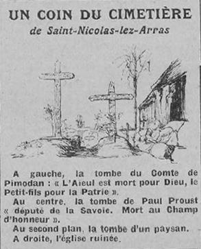 Dessin Representant La Mort le 15 juin 1916 : nos cimetières - 1916 - À l'écoute des témoins